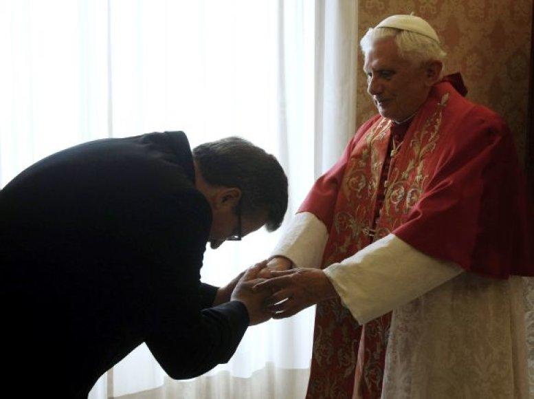 Lenkijos prezidentas B.Komorowskis aplankė popiežių