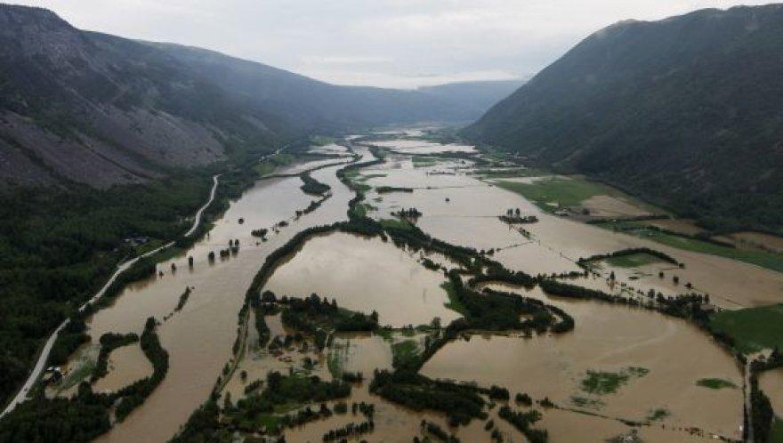 Potvynis skandina Norvegiją