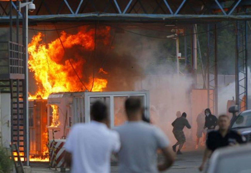 Kosovo pasienyje su Serbija kilo agresijos banga
