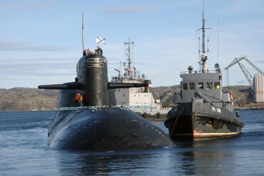 """Povandeninis laivas  """"Jekaterinburg"""" prieš gaisrą"""