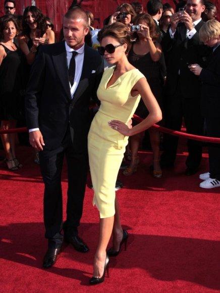 Victoria Beckham su vyru Davidu