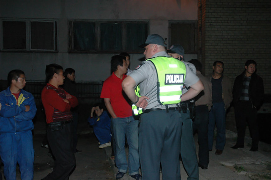 Policija sprendžia kinų problemas