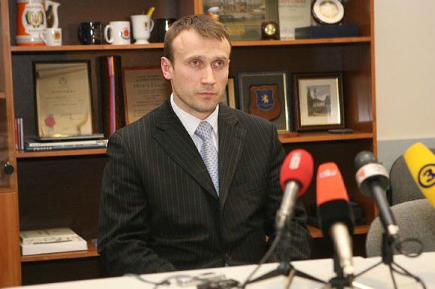 Prokuroras Egidijus Palaima, kuris vadovaus nusikaltimą tiriančiai darbo grupei.