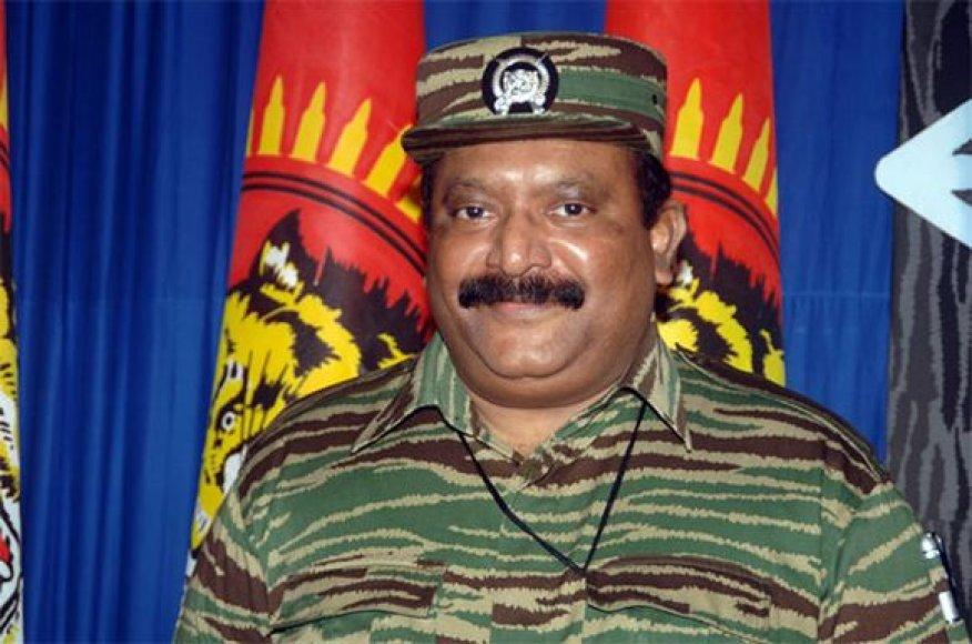 """Šri Lankos tamilų """"tigrų"""" lyderis Velupillai Prabhakaranas"""