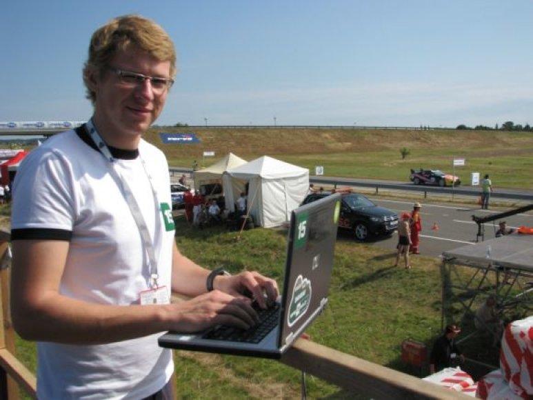 Žurnalistas Tomas Digaitis komentuos lenktynes