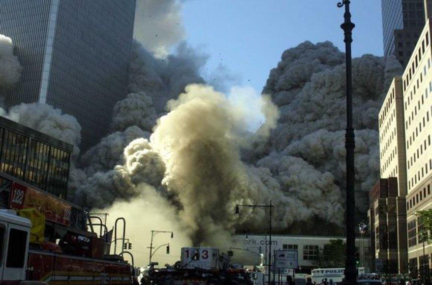 Abu pastatai per trumpą laiką sukniubo į žemę.