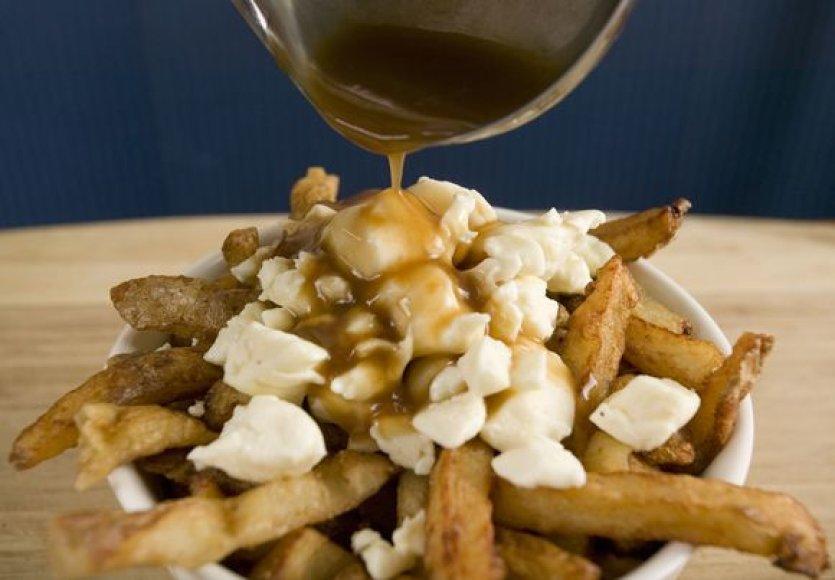 Gruzdintos bulvytės su sūriu ir gardžiu padažu
