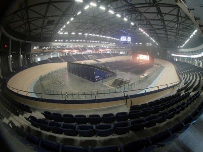 Čia yra vienintelis Baltijos šalyse olimpinius standartus atitinkantis 250 m ilgio dviračių trekas