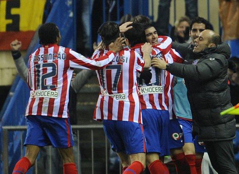 """""""Atletico"""" futbolininkai šventė įspūdingą pergalę"""