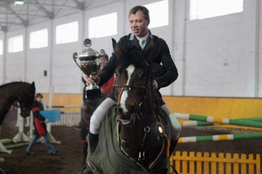Nugalėtoju tapo Vilnietis Andrius Petrovas su žirgu Lektor