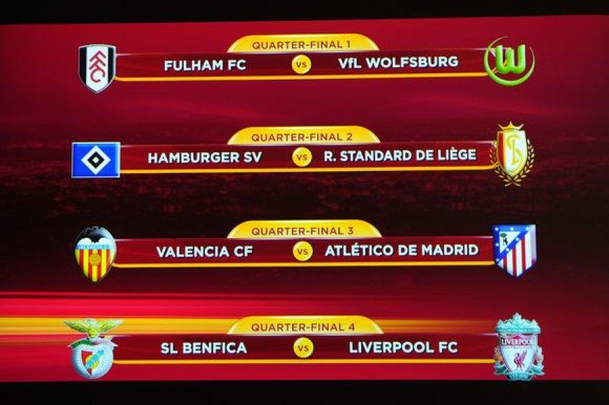 Ištraukti UEFA Europos lygos ketvirtfinalio burtai