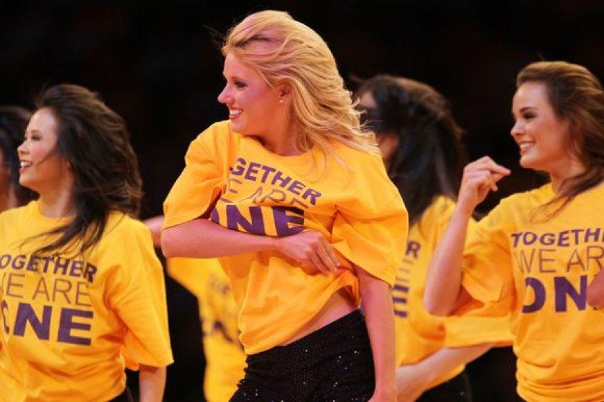 """Geltonieji """"Lakers"""" marškinėliai"""
