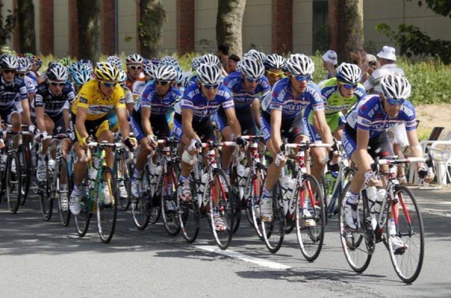 """Trečiasis """"Tour de France"""" dviratininkų lenktynių  etapas"""