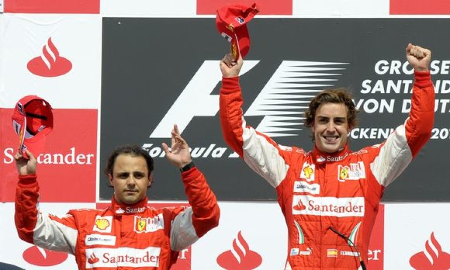 "Pirmosios dvi vietos Vokietijoje atiteko ""Ferrari"" pilotams"