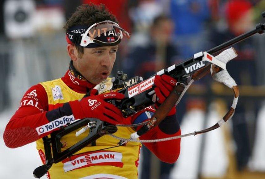 O.E.Bjorndalenas pirmauja bendroje pasaulio taurės varžybų įskaitoje.