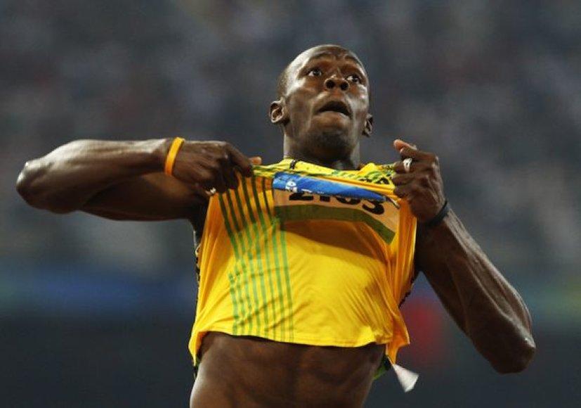 U.Boltas teigia, kad negalėtų nė lėkštės makaronų išvirti, nes gaminti nemoka.