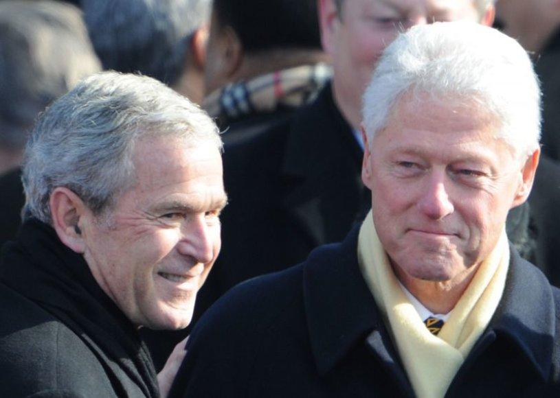 Buvę JAV prezidentai G.Bushas ir B.Cilintonas