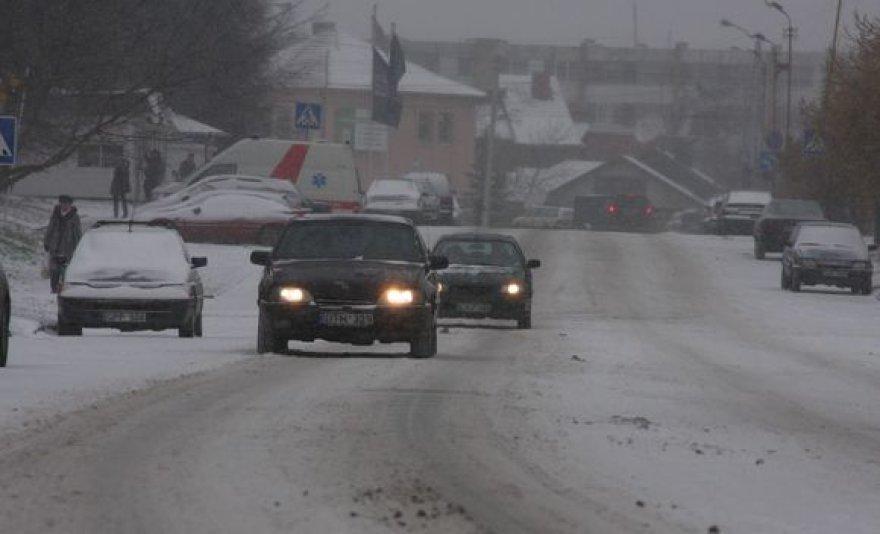 Kauno gatvės žiemą.