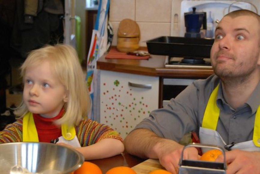 """""""Susitikime virtuvėje"""" vyko pas mažiausią žiūrovę"""