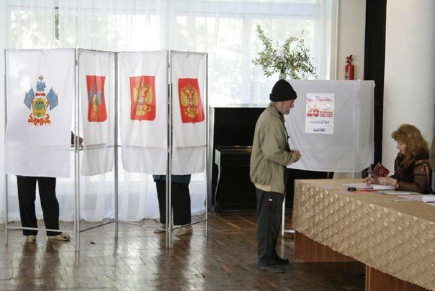 Rusijos Sočio miesto rinkėjai savo valdžioje palieka Kremliaus poziciją remiantį merą.