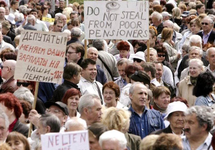 Protestas Latvijoje
