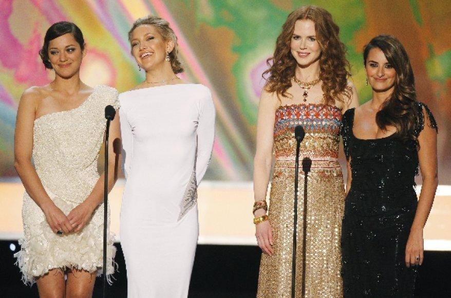 "Nicole Kidman su savo kolegėmis iš filmo ""Devyni"""