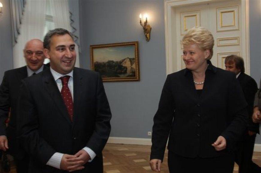 D.Grybauskaitė ir N.Gilauris