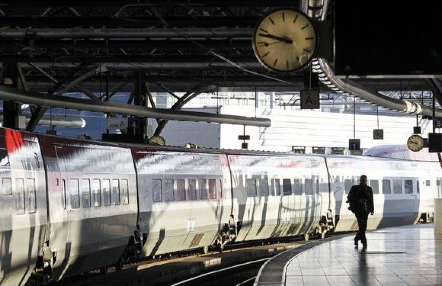 Belgijoje dėl geležinkelininkų streiko sustabdytas beveik visas traukinių eismas.