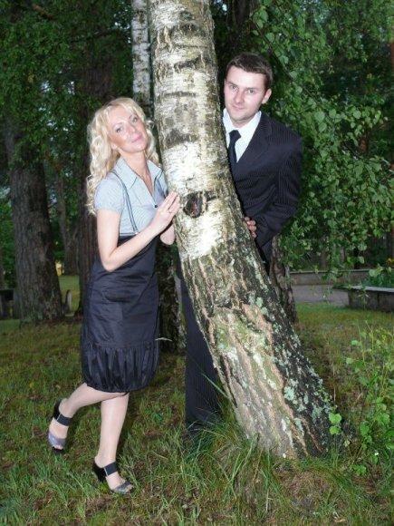 Kęstutis su žmona