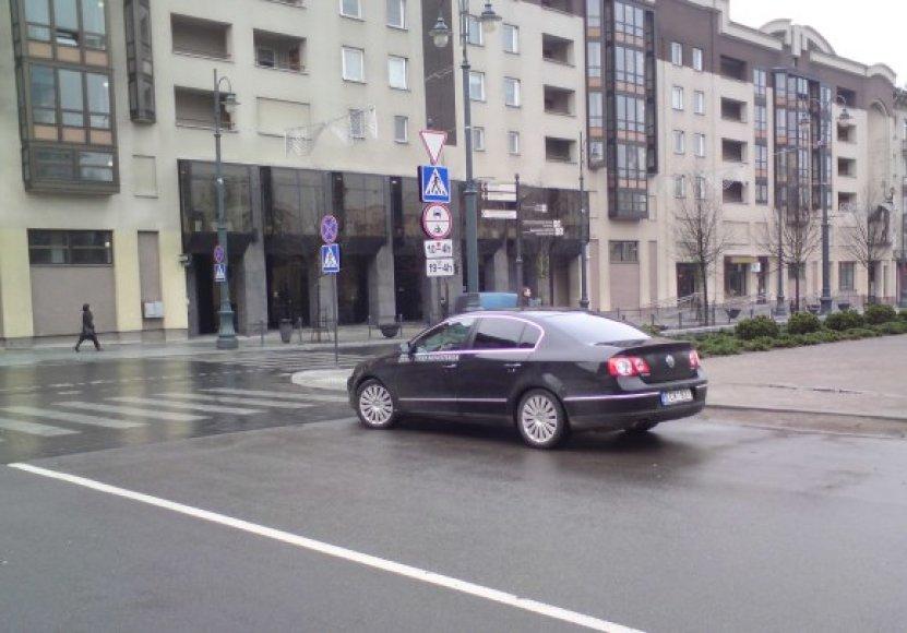 Žemės ūkio ministerijos tarnybinio automobilio vairuotojas pažeidė taisykles