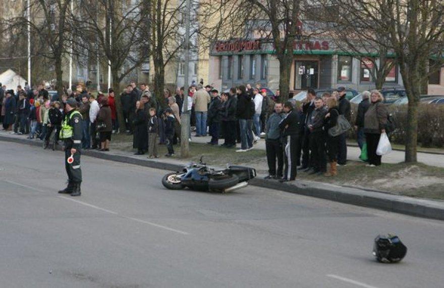 Motociklo avarija Parko gatvėje