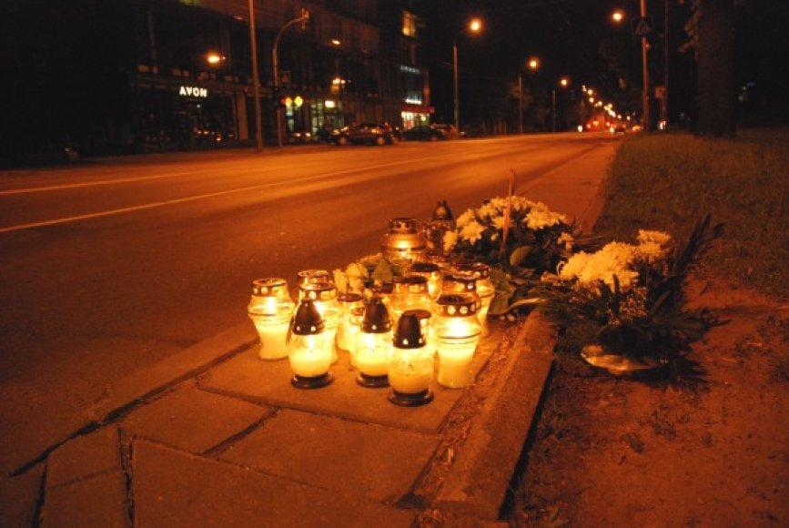 Vieta, kur žuvo motociklininkas