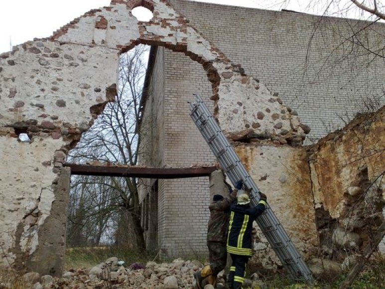Gimnazistai bandė išardyti šiuos senovinius mūrus.