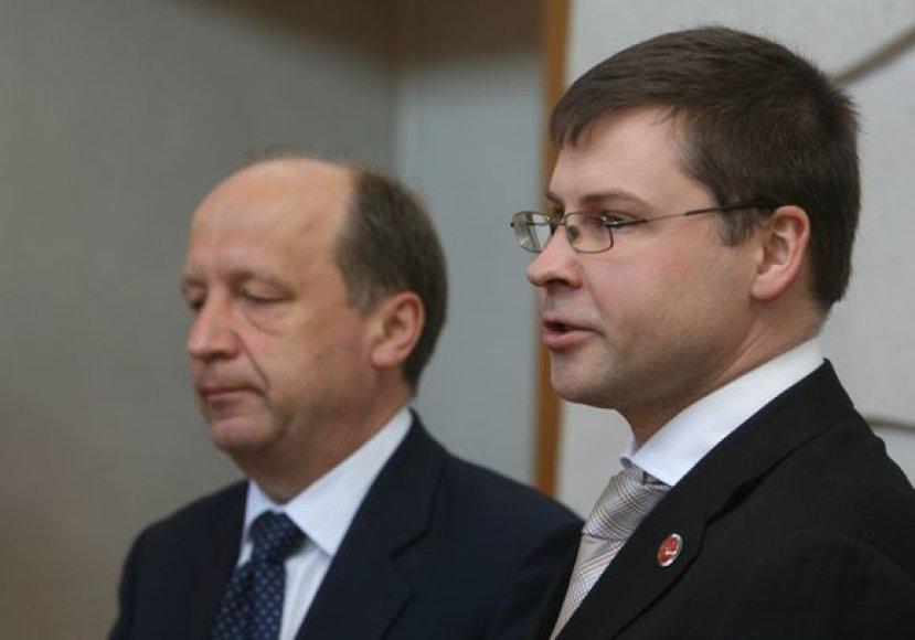 Andrius Kubilius ir Valdis Dombrovskis