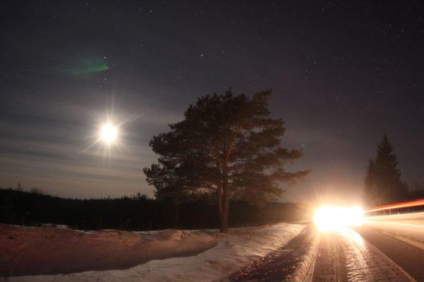 Naktinio pasivažinėjimo akimirka