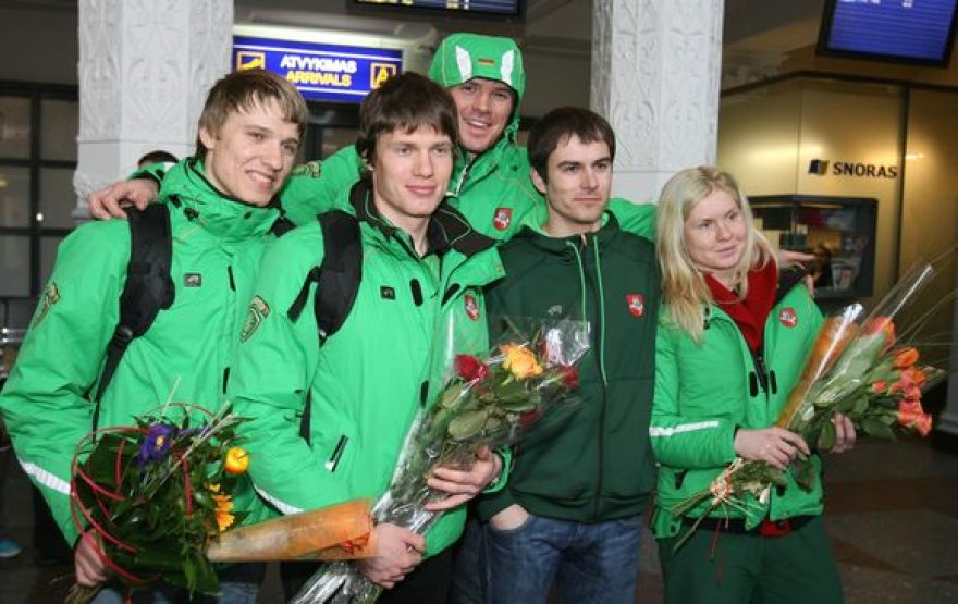 Olimpiečių sutiktuvės Vilniaus oro uoste
