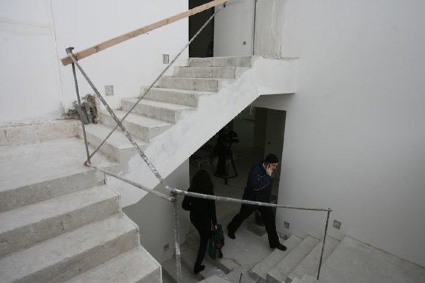 Vyriausybės vadovo rezidencijoje Turniškėse darbuojasi statybininkai