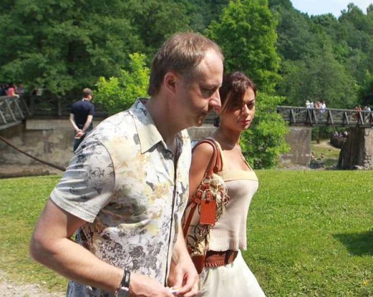 Genutė Žalienė su draugu Tomu