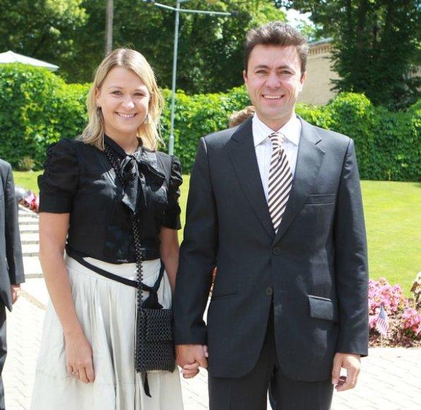 Greta Akcijonaitė su vyru Aidu