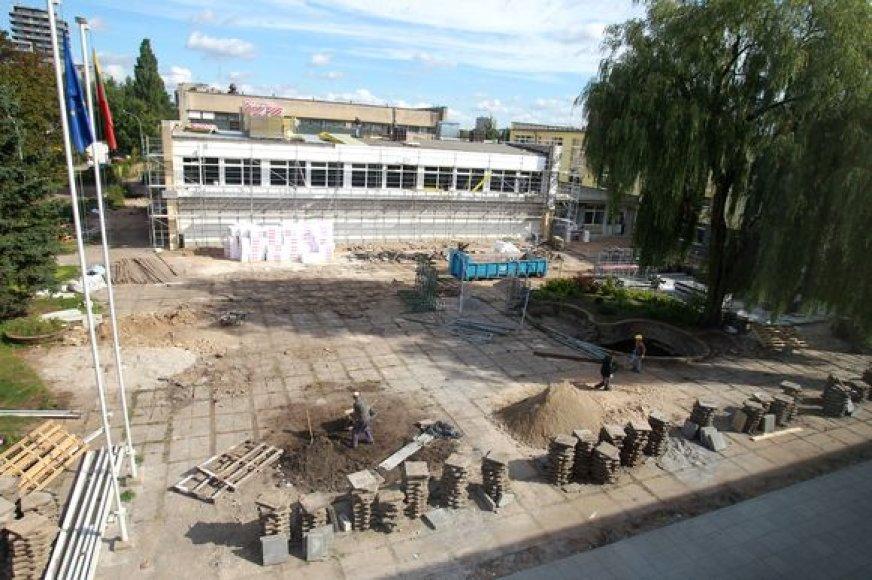 Remontas Žirmūnų gimnazijoje beveik baigtas.