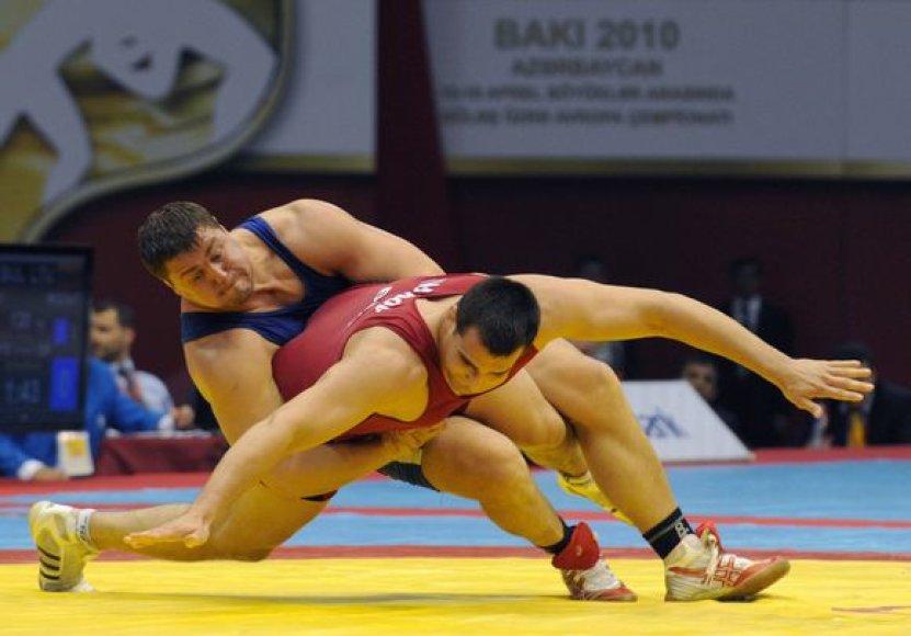 M.Mizgaitis kovoja dėl bronzos medalio