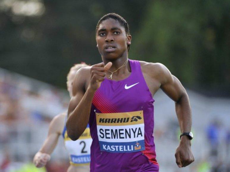 C.Semenya bėgimo akimirkos