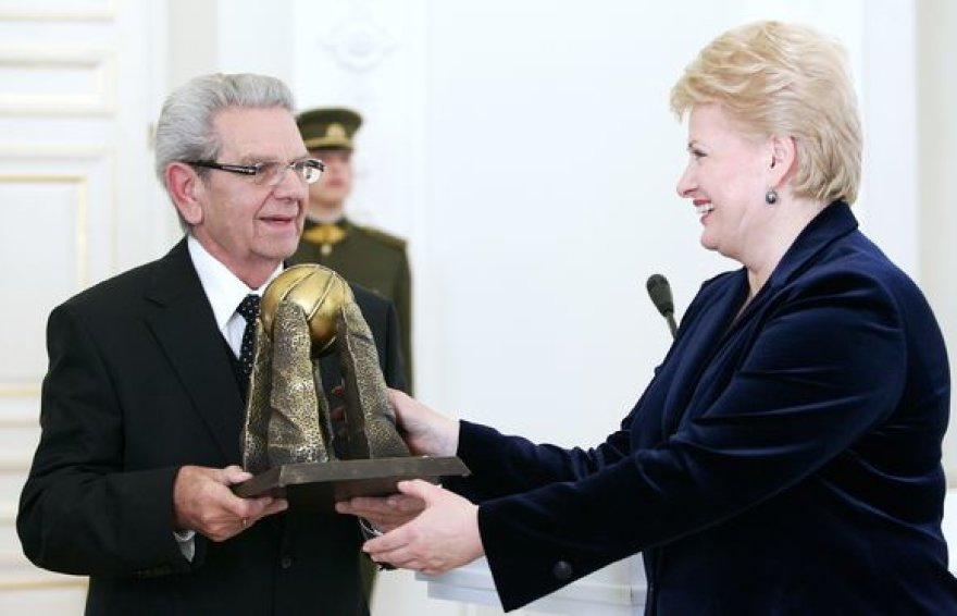 LKF prezidentas V.Garastas ir Prezidentė