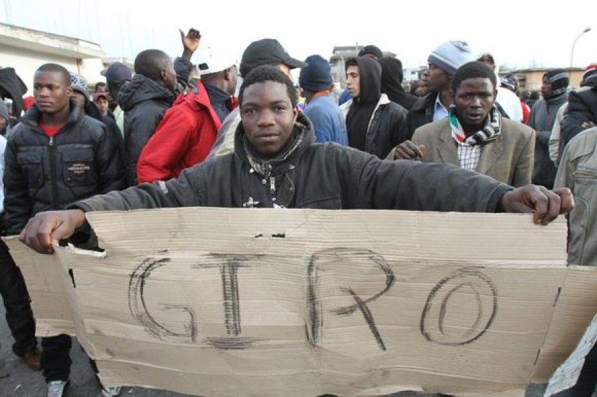 Protestuojantys imigrantai