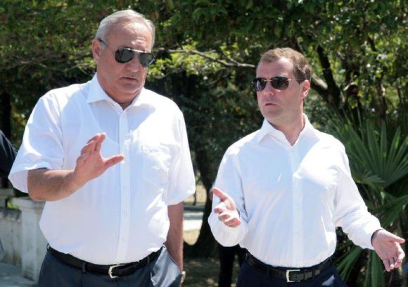 D.Medvedevas atvyko į Abchaziją