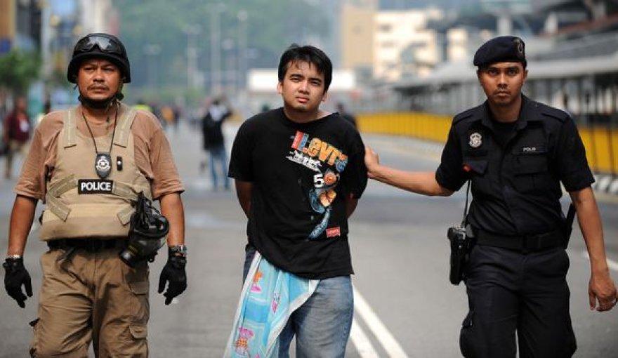 Suimtas protestuotojas Malaizijoje