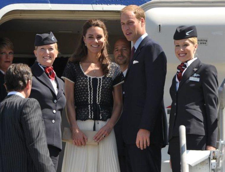 Princas Williamas su žmona viešėjo Šiaurės Amerikoje