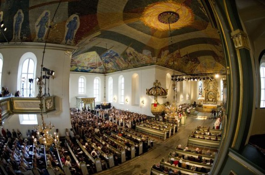 Pamaldos Oslo katedroje