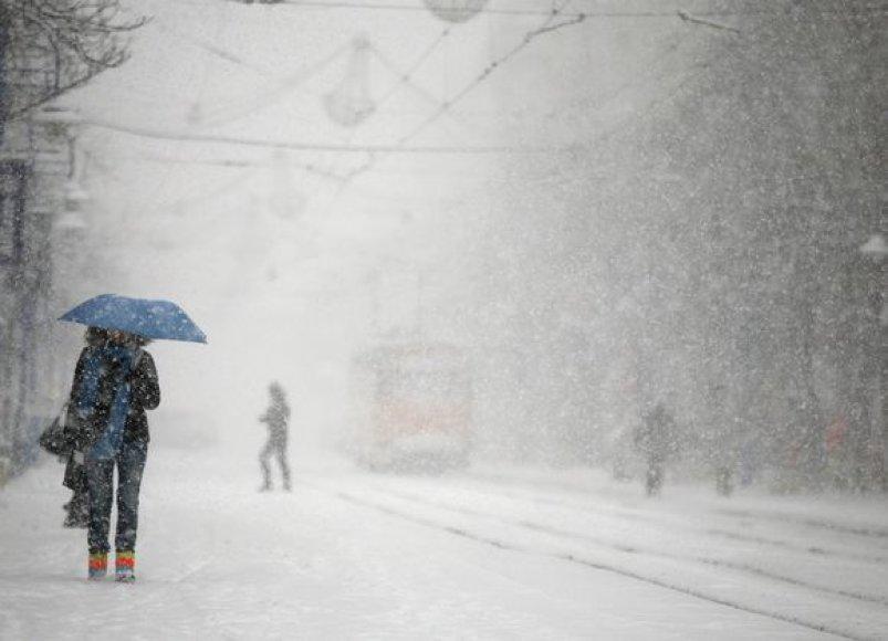 Sniegas Bulgarijoje