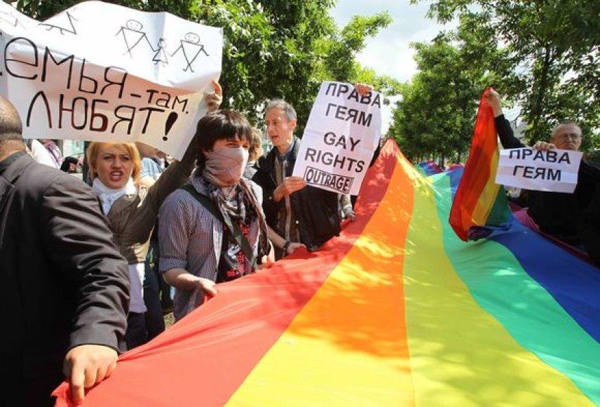 Homoseksualams Rusijoje nelengva